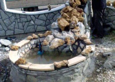 fontana ugradnja kamena